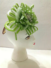 Green Fascinator Scala Handcrafted by Dorfman Pacific100% Sinamay