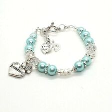 Bridesmaids Wedding Hand made Personalised Gift bracelet Special Occasion Unique