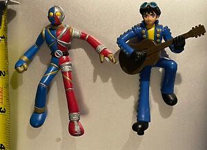 Two (2) Kikaida Kikaider Super Robot Figures Figure Toy Ultraman Jiro Guitar