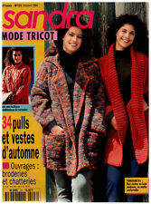 ▬► SANDRA  123 / OCTOBRE 1994 MODE  TRICOT FEMMES ENFANTS HOMMES AUTOMNE