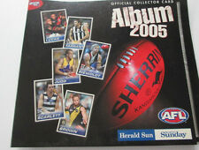 AFL & Herald Sun Official COLLECTOR CARD ALBUM 2005 & Complete Set of 192 Cards