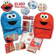ELMO Showbag - Reversible Elmo & Cookie Monster Backpack, Stationary Set