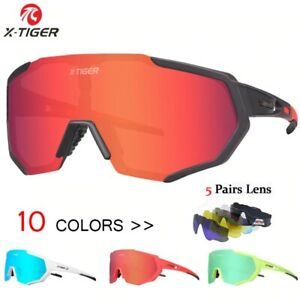 X-TIGER Polarized Cycling Glasses Bike Goggles Driving Fishing Sunglasses UV400