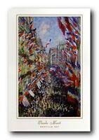 Claude Monet Bastille Day Wall Decor Art Print Poster (24x36)