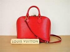 AUTHENTIC LOUIS VUITTON RED EPI ALMA PM HANDBAG PURSE w/SHOULDER STRAP
