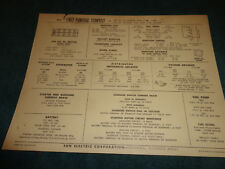 1967 PONTIAC TEMPEST 326 V-8 ENGINE SUN TUNE-UP CHART / WITH 2BBL CARB