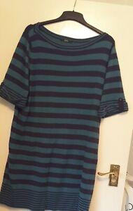 M&S 'Classic' Blue Horizontal Striped Dress Size 16
