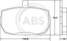 Scheibenbremse 36124 VA für DAF FORD LAND ROVER LDV A.B.S Bremsbelagsatz