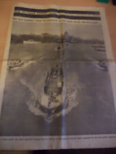 OLD VINTAGE ORIG NEWSPAPER SUPP 1960s THE TIMES WINSTON CHURCHILL 31 JAN 1965