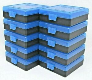 22 lr Ammo Box / Case / Storage (10 PACK) 1000 Rnds of STORAGE BLUE-BLACK