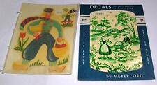 two VTG 1950'S MEYERCORD DECALS - WATER TRANSFERS - DUTCH  THEME, CRAFTS