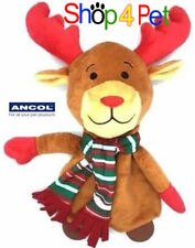 ANCOL RUDOLPH REINDEER  SOFT SQUEAKY STUFFED DOG TOY with CRINKLE PAPER