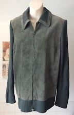 Taillissime vintage style green suede skinny rib knit green zipper cardigan 18