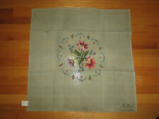 "Jolles PRE-WORKED Needlepoint FLORAL Canvas  - 27"" x 27"" - Austria - 2 of 2"