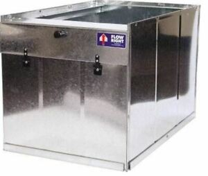 """Flow Right 21"""" Galvanized Return Air Filter Box Furnace Stand Filter Rack"""