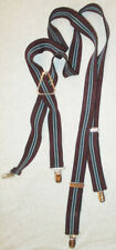 VINTAGE PELICAN BBB USA ELASTICIZED STRIPED SUSPENDERS