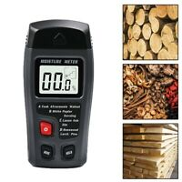 Handheld Wood Moisture Test Meter Digital LCD Log TimberDamp Tester Detect@M@#L