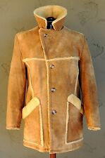 *Vintage* Shearling Sheepskin Leather Fur Coat Jacket  (Size 42) Western Rancher