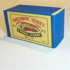 Matchbox Lesney 21 b1 Long Distance Coach Bus empty Repro B style Box