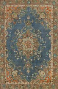 Vintage Overdyed Tebriz Handmade Area Rug Evenly Low Pile Oriental Carpet 9'x12'