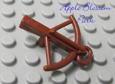 NEW Lego Minifig Reddish Brown CROSSBOW - Castle Knight Cross Bow Arrow Weapon