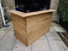 Home bar / micro pub with solid hard woodtop counter.