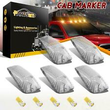 5 Roof Running Light Cab Marker Clear Cover+5730 T10 Amber LED for Chevrolet GMC