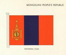 MONGOLIA FLAGS. Mongolian People's Republic. National Flag 1964 old print