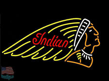 Indian Motorcycle Gasoline Car Motor Neon Sign 17''x14'' From USA
