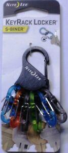 Nite Ize KeyRack Locker S-Biner MicroLock Polycarbonate Bright Colors KLKP-01-R3