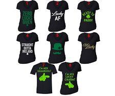 St Patricks Day shirt Shamrock Clover Paddy's Irish Unisex Men Women T-Shirt Blk