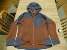 Solstice Soft Shell Full-Zip Hooded Rugged Jacket Women's Large Black Brown VGUC