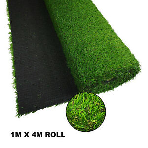 2 X Artificial Grass Realistic Look Roll Mat (1m X 4m) - Up To 28mm Pile Height