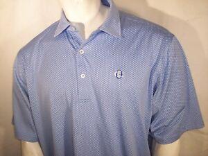 New Donald Ross XL/XXL Blue Poly Golf Shirt Oakmont Members Logo