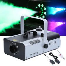 1500W LED RGB Nebelmaschine Fernbedienung DMX Fog Rauchmaschine Fog Machine