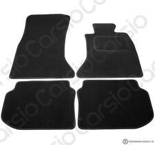 BMW 5 Series F10 2010 -> Tailored Black Car Floor Mats 4pc Set With Fixing Tabs