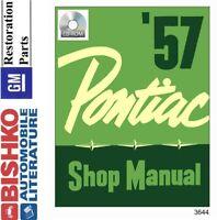 1957 Pontiac Shop Service Repair Manual CD Engine Drivetrain Electrical Guide