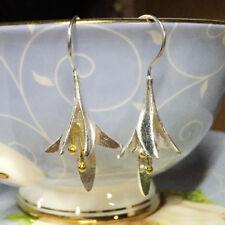 2X Lilie 925 Silber Blumen Ohrringe Ohrhänger Ohrschmuck Lily Flower Earrings