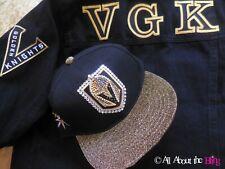 Las Vegas Golden Knights hat black gold  hand jeweled with Swarovski crystals