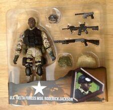ULTIMATE SOLDIER 1/18 ELITE FORCE BBI UNIMAX OPEN CARD MSG. RODERICK JACKSON