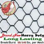 "Poultry Netting 12.5' x 20' 1"" Heavy Knitted Anti Bird Aviary Pheasant Net Nets"
