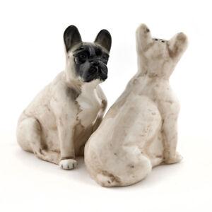Quail Ceramics:  Salt & Pepper Pots:   Fawn French Bulldogs