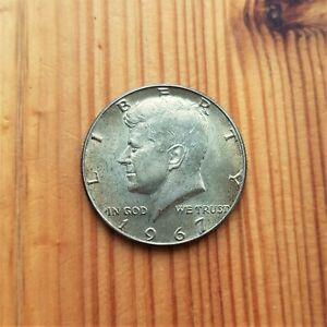 US 1967 SILVER KENNEDY HALF DOLLAR COIN SILVER BULLION UNCIRCULATED