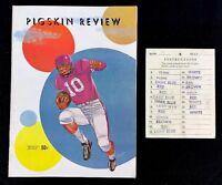 Vintage 1958 USC Trojans Washington Huskies Football Pigskin Review Spirit Card