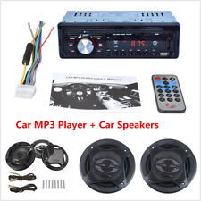 "Car Stereo Audio MP3 Player +6.5"" 400W Car Subwoofer Coaxial Component Speakers"