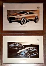 mazda 2 and cx7 promotional framed prints launch brochure