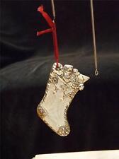 Mib Lenox Mesh Silverplated Christmas Stocking Ornament