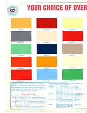 ORIGINAL RARE DITZLER BOAT FINISHES COLOR PAINT CHIP & ENGINE COLOR CODE MANUAL
