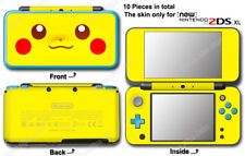 Pokemon Pikachu Classic Edition Skin Sticker Cover Decal for NEW Nintendo 2DS XL