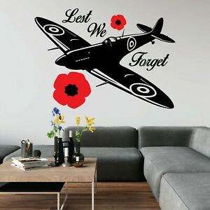Lest We Forget Help For Heroes Charity War Vinyl Decal Wall Art Sticker UK Car